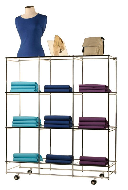 Folding Cube Merchandiser - Chrome