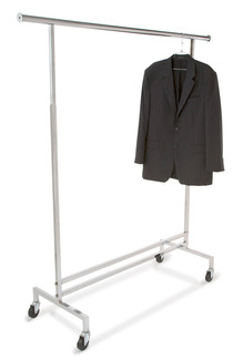 Single Hangrail Rolling Garment Rack
