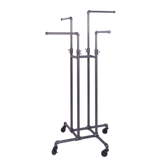 Pipeline Adjustable 4-Way Arm Garment Rack, Anthracite Grey
