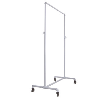 Pipeline Adjustable Ballet Bar Garment Rack - Gloss White