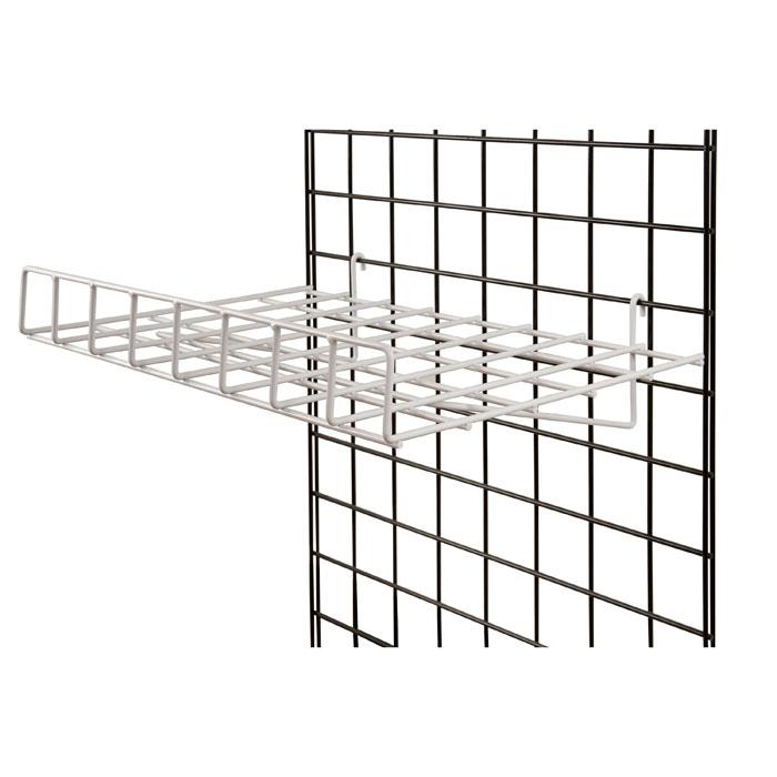 white 1  4 u0026quot  wire gridwall flat shelf 24 u0026quot w x 15 u0026quot d