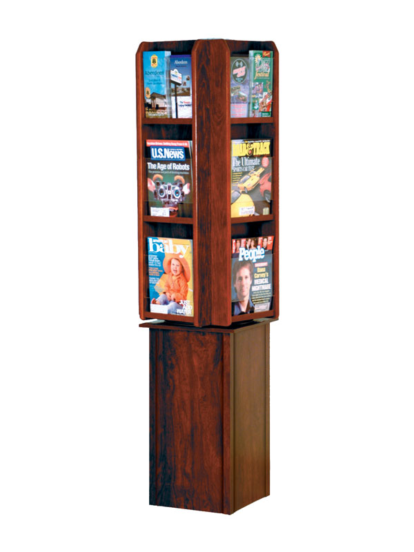 magazine display wood spinning wire rotating brochure standing of news sting rack revolving metal literature stands revo pb for desk wsfm size holder office full pocket