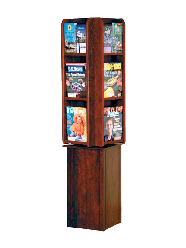 metal rotating bathroom standing free rack stand magazine display