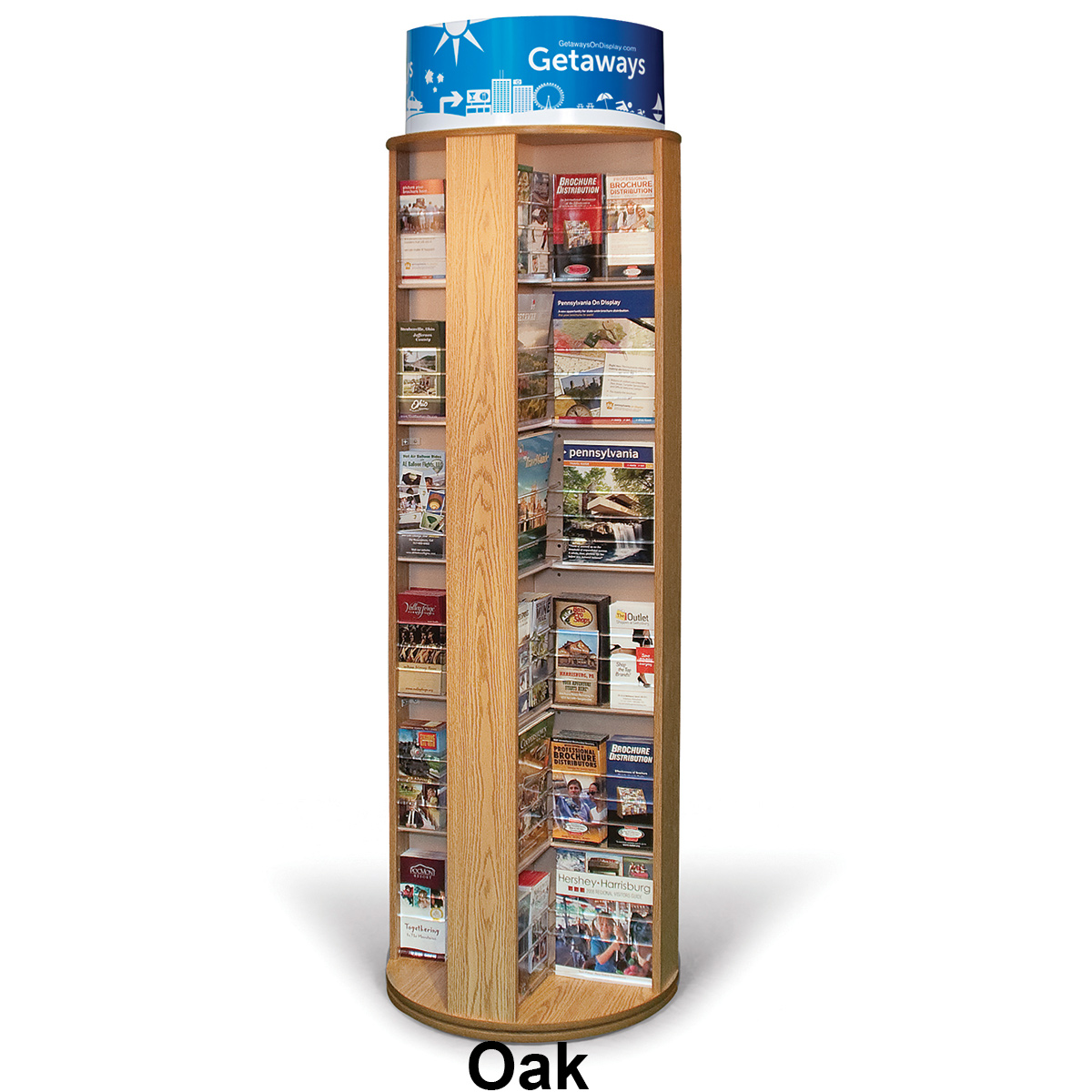 48 Pocket Rotating Floor Standing Literature Rack