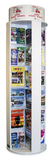 48 Pocket Rotating Floor Standing Literature Rack