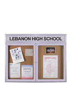 Bulletin Board Display Cases
