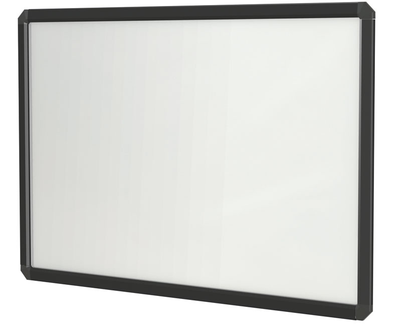 "24""H x 36"" DecoVue Snap Poster Frame White Board - Black Frame"