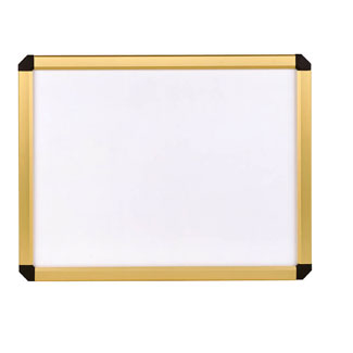 22 h x 28 decovue snap poster frame white board gold frame. Black Bedroom Furniture Sets. Home Design Ideas