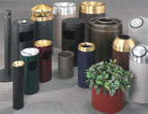 Powder Coat Finish Waste Receptacles