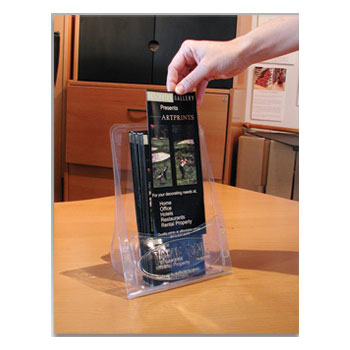 5 Pak Table Top Brochure Display For Tri Fold Amp Half