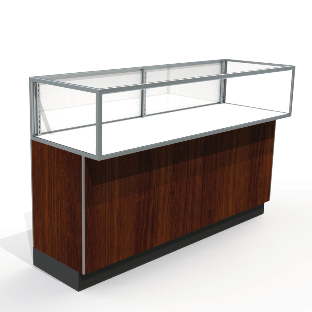 60 L Jewelry Display Case With Laminate Doors