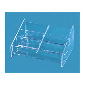 8 pocket tiered horizontal business card holder clear colourmoves