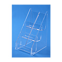 6 Pocket Tiered Vertical Business Card Holder - Clear