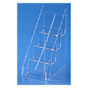 8 Pocket Tiered Vertical Business Card Holder - Clear