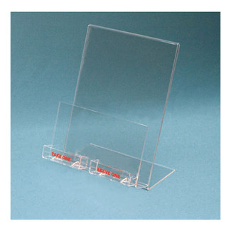 Countertop business card and brochure holder wsign reheart Choice Image