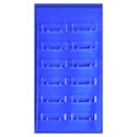 12 Pocket Wallmount Business Card Holder - Clear