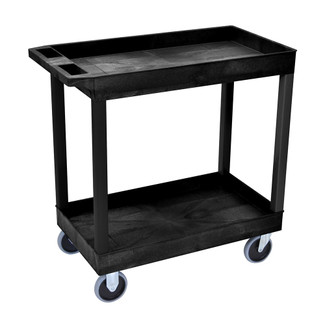 "32"" x 18"" Tub Cart - Two Shelves - Black"