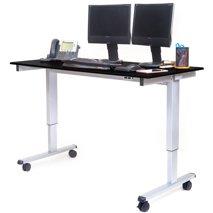 60 electric adjustable stand up desk. Black Bedroom Furniture Sets. Home Design Ideas