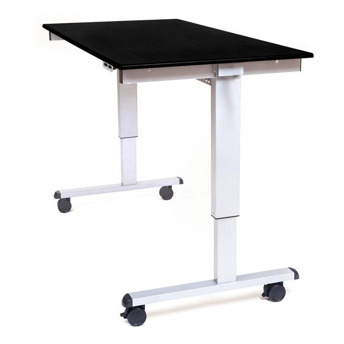 60 electric adjustable stand up desk for Motorized adjustable standing desk