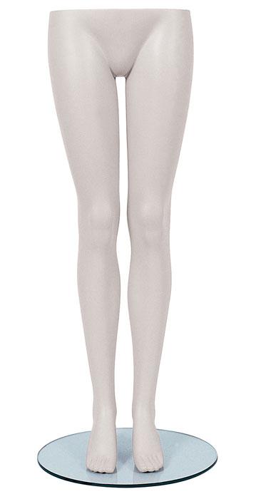 Female Legs W Glass Base White