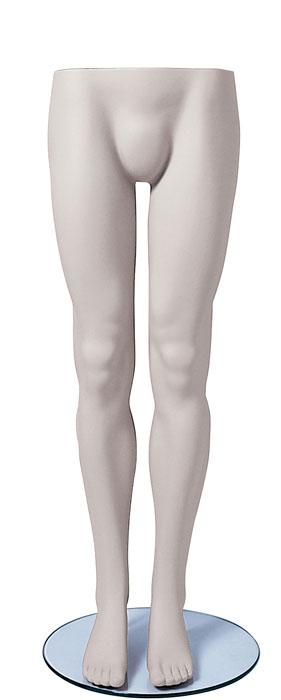 Male Legs W Glass Base White