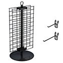 "Double-Sided 21"" x 12"" Wire Grid Panel Countertop Spinner Display"