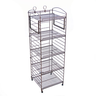 5 Shelf Wire Fold-up Display Rack