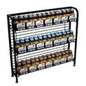 "33""H Under Counter Wire Display Rack With 4-6"" Shelves"