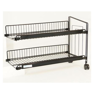 add on 1 bay 2 shelf knee knocker wire display rack