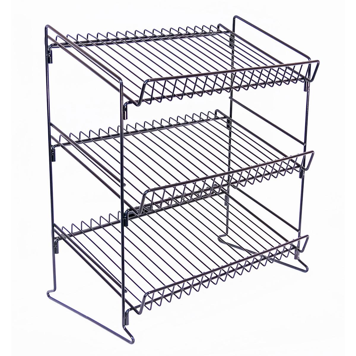 3 Shelf Wire Counter Display Rack
