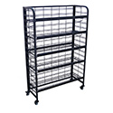 "52""H End Cap Display With (5) Adjustable Shelves"