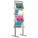 Brochure Display 8 x 2 * (8.5″w x 11″h) Capacity Standing Double Sided
