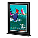 11″w x 17″h Countertop Slide In Black Frame - Double Sided