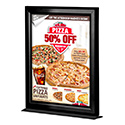 8.5″w x 11″h Countertop Slide In Black Frame - Double Sided