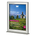 11″w x 17″h Countertop Slide In Silver Frame - Double Sided