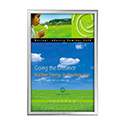 "24"" x 36"" Lockable Snap Poster Frame – 1.25 inch Silver Mitered Profile Frame"