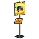 "Sign Stand 22″ x 28″ with Literature Display Shelf for 8.5""x11"" Brochures - Black"