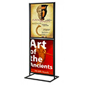 18″w x 24″h Metal Poster Display Stand With 2 Tier Black