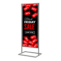 18″w x 60″h Metal Poster Display Stand with 1 Tier Silver