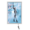 24 x 36 Best Buy Led Box 1 inch Silver Slim Profile Single Sided