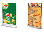 Restaurant Sign Holders & Table Tents