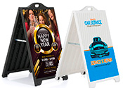 Premium Plastic A-Frame Sign Stands