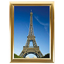 "8.5"" x 11"" Snap Poster Frame – 1 inch Golden Look Profile Frame, Mitered Corner"