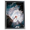 "8.5"" x 11"" Snap Poster Frame – 1 inch Chrome Look Profile Frame, Mitered Corner"