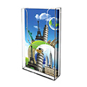 "4""w x 9""h Value 1-Pocket Acrylic Wall Mount Brochure Holder"