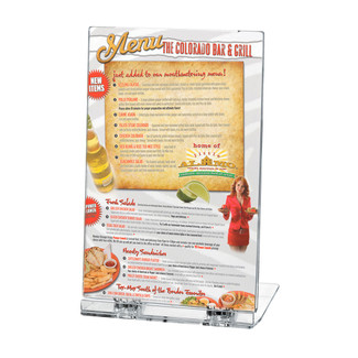 "5""w x 7""h Acrylic Foldable Brochure & Leaflet Holder"