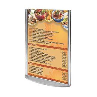 "8.5""w x 11""h Acrylic Oval Leaflet & Sign Holder"