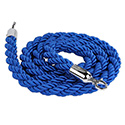 Stanchion Q Rope - Chrome Hardware, Blue Rope