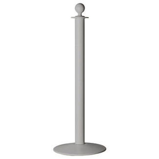 Stanchion Q Rope Grey - Knob Top (without rope)