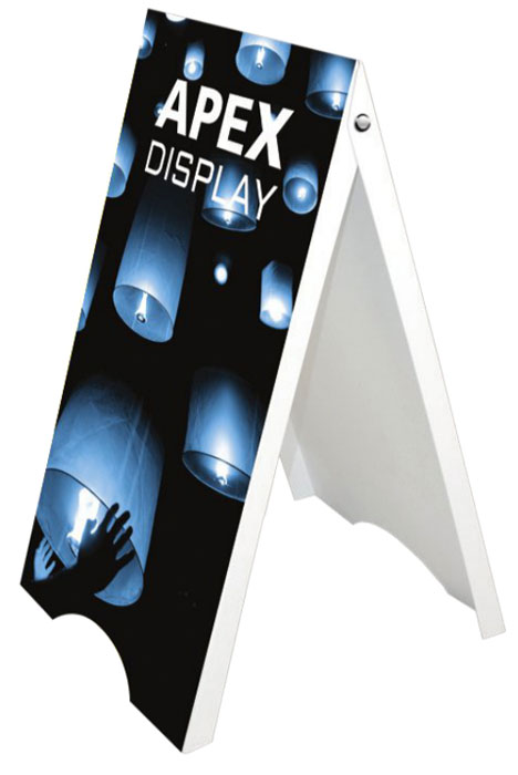 Apex Plastic A-Frame Sidewalk Sign Stand